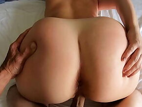 The Girl Next Door Gets Her Big Ass Fucked and Cum on Her Tits