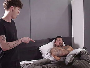Son is Pretty Damned Good At Sucking Dick, Ergo I Bend Him Over On The Chaise longue And Show Him Exactly What I'm Looking For In A Bottom - Ryan Bones, Marco Biancci